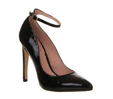 Womens Office Ribbon BLACK PATENT LEATHER Heels