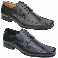 Mens New Black Brown Lace Up Leather Lined Formal Shoes Free UK Shipping