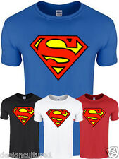 Mens Boys Unisex SUPER MAN SUPERMAN T-Shirt Tee Top T Shirt  - 13 TSHIRT COLOURS