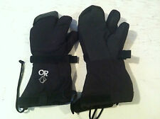 ECW, OUTDOOR RESEARCH BLACK TRIGGER FINGER MUTANT MITTS WITH LINERS, EUC