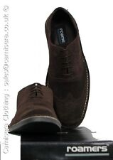 Mens Roamers Suede Leather Brogues Shoes Desert Brown Size UK 6 7 8 9 10 11 12