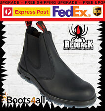 Redback Work/Station Boots Black Leather Non Steel Toe Easy Escape UBBK