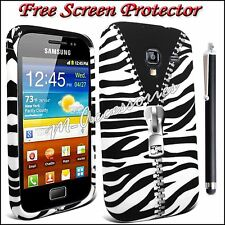 ZEBRA ZIP PRINT SILICONE GEL CLIP ON CASE COVER SKIN FOR ALL MAJOR MOBILE PHONES