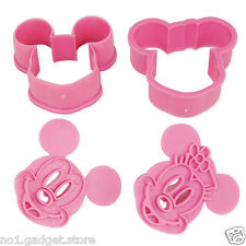 Mickey & Minnie Mouse/ Hello Kitty Cookie Cutters Set of 2 Decorating Baking