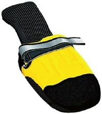 Muttluks All Weather Dog Boots Yellow and Black Leather Sole Toe 4 Pack XXL