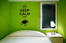 'Keep Calm and ZzzzZzz' - Funny 'Pokemon' Wall Stickers & Wall Decal. New.