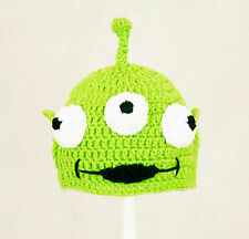 Toy Alien Hat from Toy Story, Green Crochet / Knit Disney Beanie baby-adult