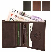 Small Visconti Quality Mens Hunter Distressed Oiled Leather Wallet New BNWT 705