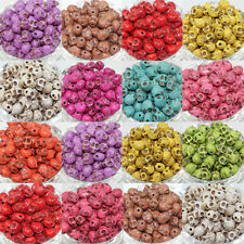Wholesale!100Pcs Turquoise Carved Skull Loose Spacer Beads 9x7MM 10Colors U Pick