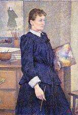 Rysselberghe anna boch in her studio Art A2 or A3  giclee Print Picture