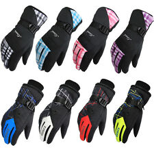 Waterproof  Women Lady Winter Ski Snow Gloves Snowmobile Hiking Size Medium