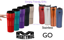 Mighty Mug Go Solo Black Red Green Purple Coffee Mug Won't Fall Over on Laptop!