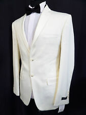 Brand New French Eye Slim Fit White Tuxedo Dinner Suit 34 36 38 40 42 46 LB1