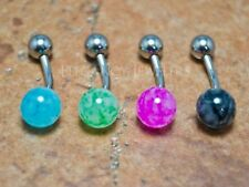 316L Surgical Steel 14GA Faux Dazzle Stone Navel Belly Ring