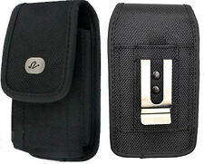 Vertical Heavy Duty Rugged Canvas Belt Clip Case Pouch for Motorola Cell Phones