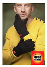 Heat Holders Mens Thermal Fleece insulated Black Gloves