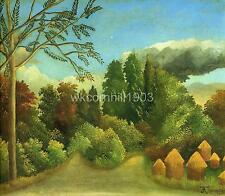Rousseau view of the banks of the ois Art A2 or A3 giclee Print Picture