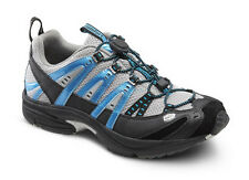 Performance Blue Diabetic Shoes - Athletic Running - Dr Comfort - Gel Inserts