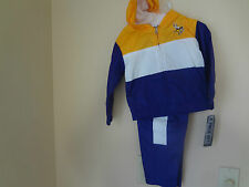 Minnesota Vikings Youth / Kids 2 pc Purple and Yellow Jogging Wind Suit