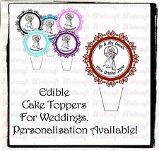 STAND UP Edible Cake Toppers -  WEDDING SET 001 - Wedding Cake Toppers