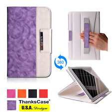 Rotatory Case Cover for iPad Air with Hand Strap and Wallet Feature 360 Rotating