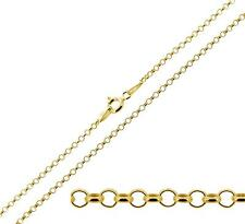 "375 Solid 9ct Gold 16 18 20 22 24 26"" Inch 1.8mm Belcher Chain Necklace Bracelet"