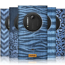 HEAD CASE PRINTED DENIM PROTECTIVE SNAP-ON BACK CASE COVER FOR NOKIA LUMIA 1020