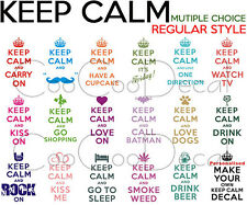 Wall Decal Sticker Keep Calm And Carry On Muti Choice Regular Letter Style Q324