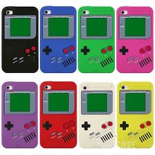 Game Boy Gameboy Silicone Rubber Soft Snap on case Cover For iPod Touch 4 4th /F