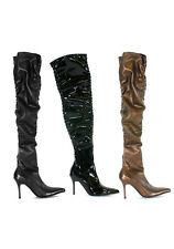 Women's 3.5 Inch Thigh High Boot With Ruching