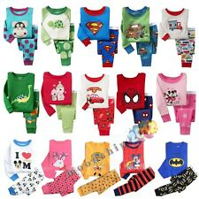 Toddlder Baby Children Kids Boys Girls Sleepwear Pajamas Set Pyjamas 1-7