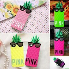 Cool Victoria's Secret Pineapple PINK Silicone 3D case cover for iPhone 5 5S 4S