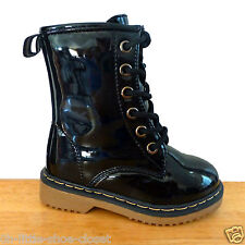 Black Patent Leather Dressy Casual Boots Baby Toddler Infant Size 5, 6
