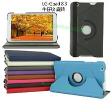 "New Folio 360° Rotating Leather Case Cover For  LG G Pad 8.3"" V500 Tablet"