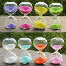 5/10/30/60 Minutes Glass Sand egg Timer clock hourglass home decor holiday gift