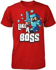 Minecraft Like A Boss Youth T Shirt