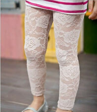 GORGEOUS BABY GIRLS LACE LEGGINGS TROUSERS PANTS FOOTLESS LACE LEGGINGS TIGHTS
