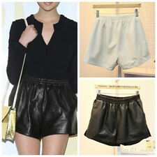 Womens Sexy Elastic Waist Loose Faux Leather Shiny Hot Mini Shorts Pants
