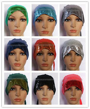 Fashion Sequins Muslim Inner Hijab Caps Islamic Underscarf Hats
