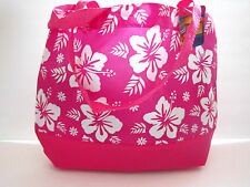 LUAU HIBISCUS FLOWER TOTE BAGS NEW