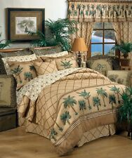Karin Maki Kona Palm Tree Tropical Bedding Comforter Set or Bed in Bag - 4 Sizes