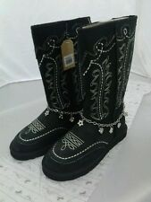 Montana West Cowgirl Winter Boots With Charms