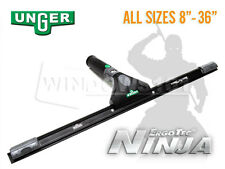 Unger ErgoTec Ninja Complete Squeegee for Window Cleaning Washing - ANY SIZE!