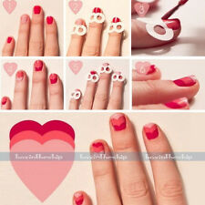 5 Packs French Manicure Nail Art Form Fringe Guides Sticker DIY Stencil 3Styles