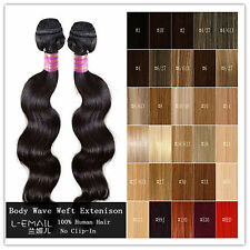 Body Wave 100% Brazilian Bundle hair weft remy human hair extension 100g