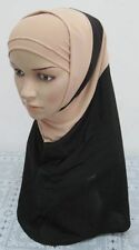2015 New 2 Piece Amira Women Arab Ramadan Muslim Hijab Islamic Scarf