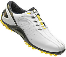 FootJoy FJ Sport Spikeless Golf Shoes Closeout 2013 Mens White/Yellow 53136 New