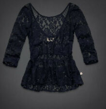 NWT Hollister by Abercrombie Womens Floral Lace Blouse