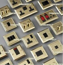 Brass Georgian Victorian Electric Blanking Plate Dimmer Cooker Socket Switches