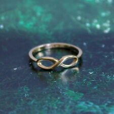 14k Solid Yellow Gold Elegant Infinity Sign Ring